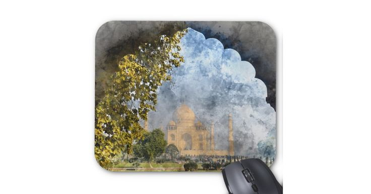 Taj Mahal in India… mousepads, travel mousepads, international mousepads, gel mousepads, ergo mousepads, art mousepads, watercolor mousepads