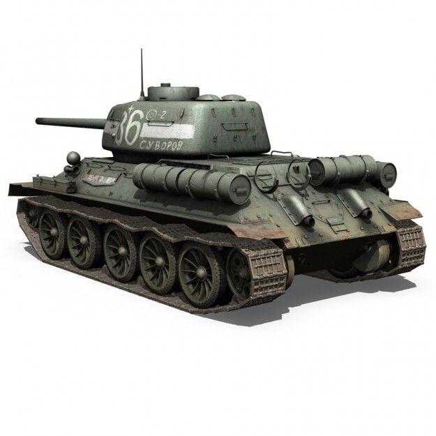 T-34 85 - Soviet medium tank