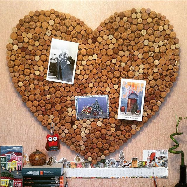 Сердце #wine cork, пробковая доска, heart