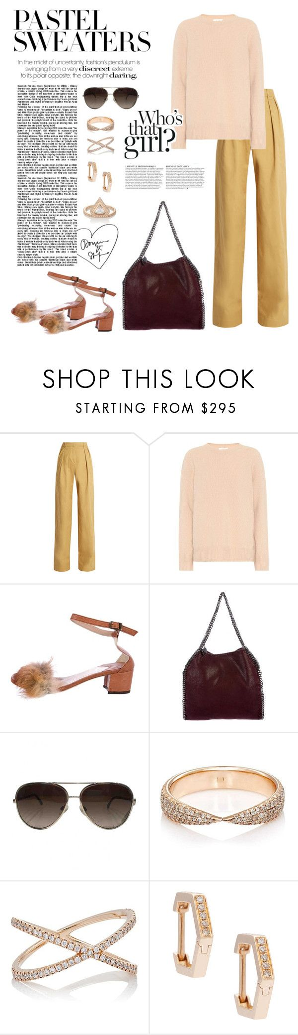 """""""Pastel Sweaters"""" by windrasiregar on Polyvore featuring palmer//harding, The Row, Brother Vellies, STELLA McCARTNEY, Chanel, Eva Fehren and Anja"""