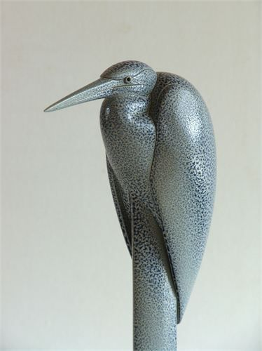 Anthony Theakston - Heron bird box. I met this sculptor once at Origin craft fair - he was lovely and proud to talk about his work. :)