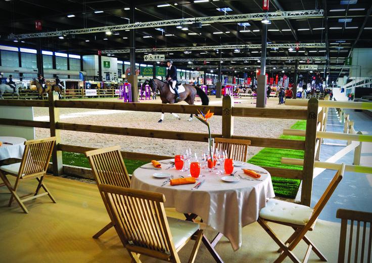 Décoration du restaurant Bistronomique pour le Jumping International de Bordeaux 2016