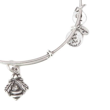 Alex And Ani Blebee Expandable Wire Bangle Russian Silver
