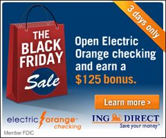 FREE Money When You Open ING Direct Bank Account (Black Friday Deal) on http://hunt4freebies.com