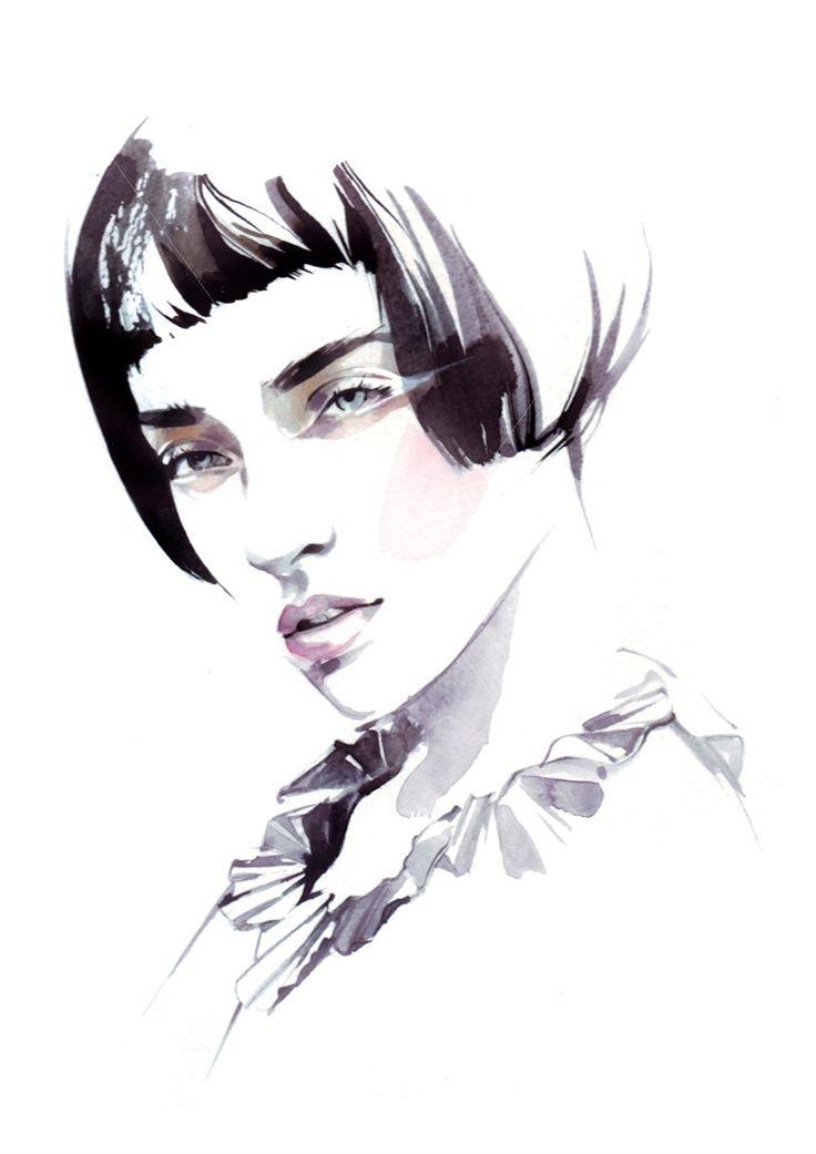 Fashion illustration // Petra Dufkova                                                                                                                                                                                 More