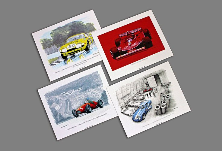 """Once you receive my """"Ferrari in Art"""" book, you have a choice of 1 of 4 (10""""x 8"""") Ferrari posters that I'll send out to you as a gift."""