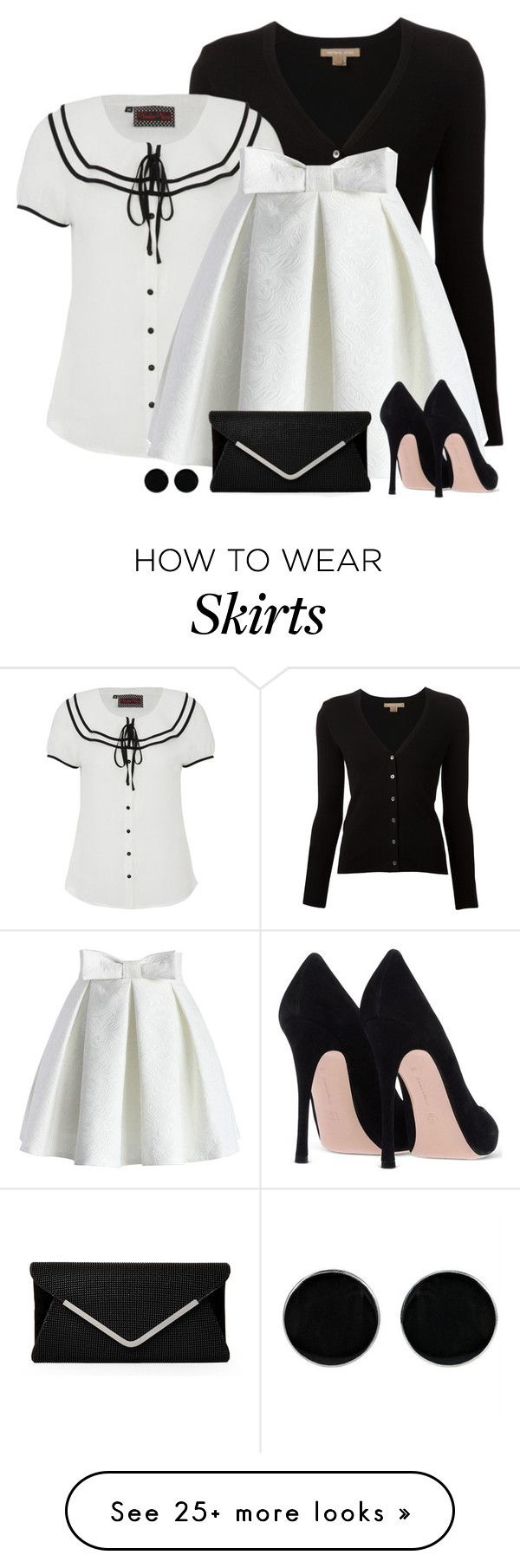 """""""B&W"""" by divacrafts on Polyvore featuring Michael Kors, Voodoo Vixen, Chicwish, AeraVida and Original"""