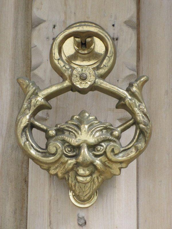 1356 best door knockers knobs hardware images on pinterest door handles door knobs and door - Green man door knocker ...