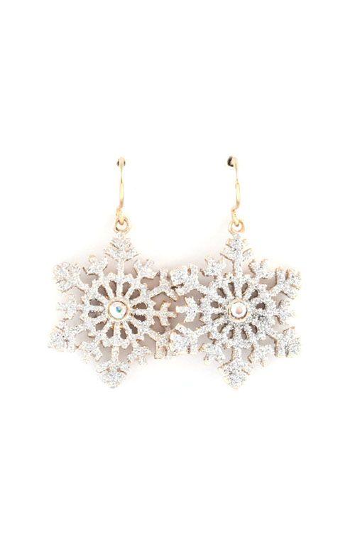 Shimmer Snowflake Earrings