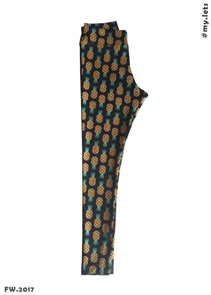 Calça legging de abacaxi! Fez o maior sucesso!!! Pena que só tem infantil =[ #lets #letsplay #mylets #calçassaruel #abacaxi #pineapple #legging #letstest #legginginfantil  #estampa #conforto #roupainfantil #infância #brincar #diaadia