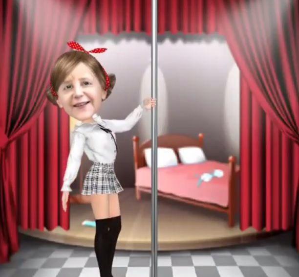 My Idol verwandelt Lady Gaga, Angela Merkel und andere Promis in Gogo-Tänzer: http://cafegelb.de/myidol-angela-merkel-sexy/