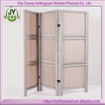 Home Decor Room Wall Cheap Room Divider Privacy Screen 3-Panel Wood Folding Screen Partition Divider Panel