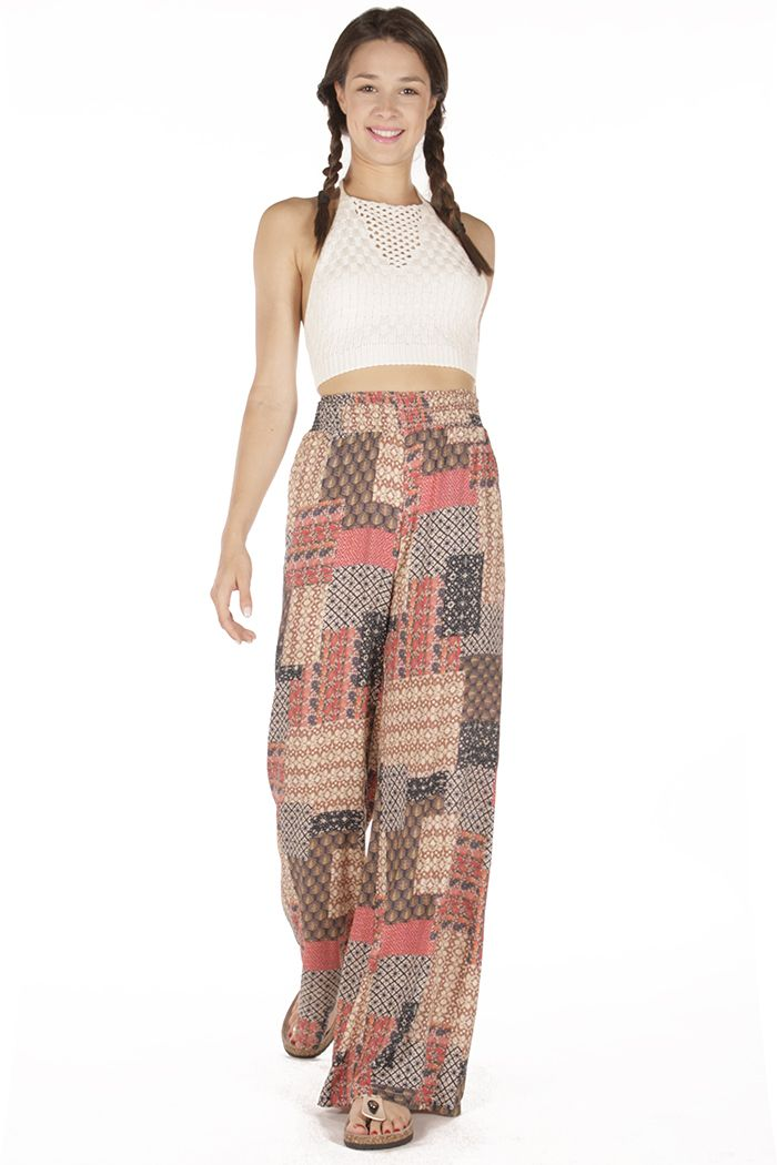 Like a boho queen! Style: Boho pants and crochet croptop!  Badila With Love