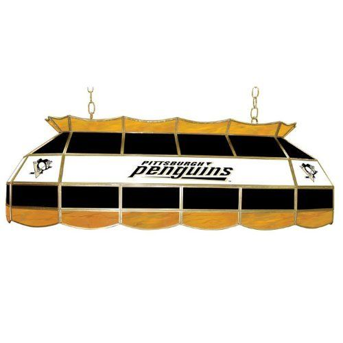 NHL Pittsburgh Penguins Stained Glass 40-inch Lighting Fixture by Trademark Global. $299.99. The officially NHL licensed, Pittsburgh Penguins 40-inch stained glass Tiffany lamp is the perfect gift for the NHL fan in your life. Use for your lighting your billiard table, kitchen table or even your dining room table. Great for gifts and recreation decor.