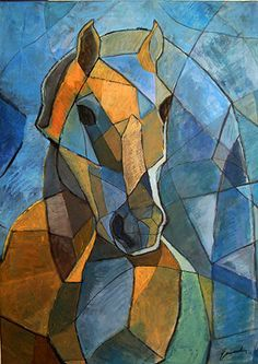 Fine Art canvas Christmas gift print best abstract signed cubist painting…