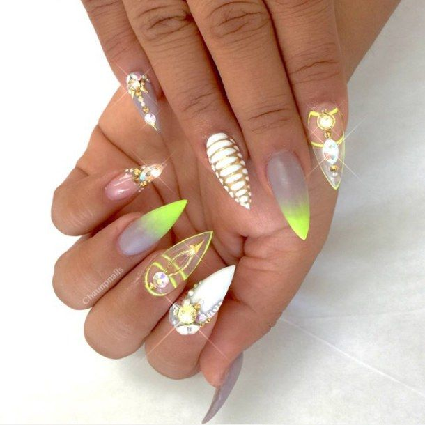 Best 25+ Diamond nail art ideas on Pinterest | Diamond ...