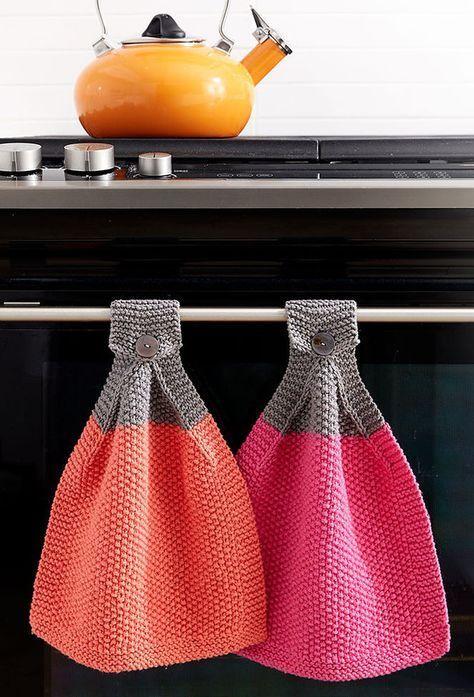 Padrões de tricô e panos de limpeza