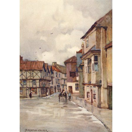 Posterazzi Somerset 1927 Axbridge Canvas Art
