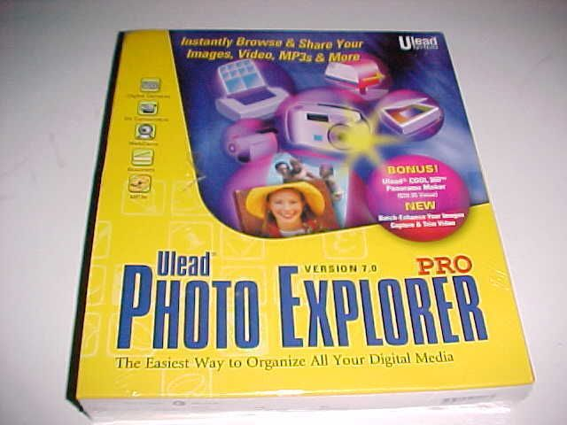 Ulead PhotoExplorer 7.0 Systems Windows NT 95 98 New Unopened #Ulead