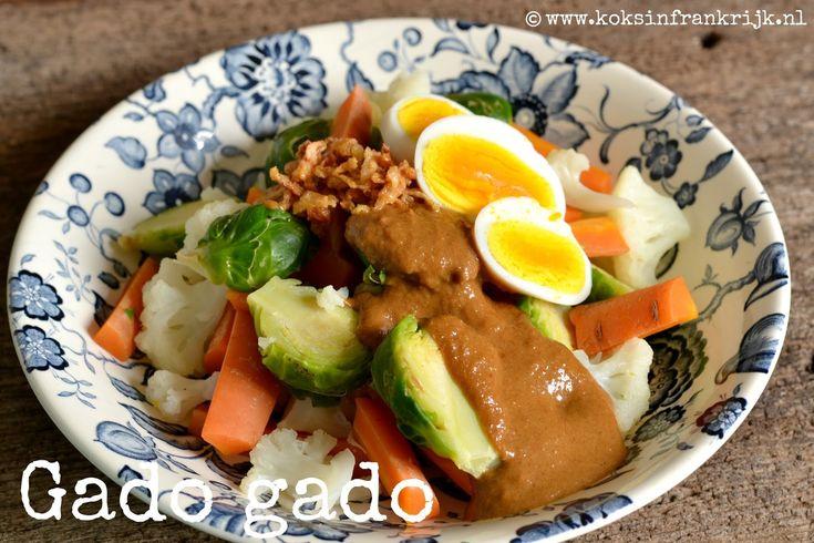 Gado gado - een Indisch groentegerecht met pindasaus