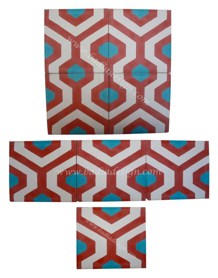 Moroccan Hand Painted Cement Tiles from Badia Design Inc.