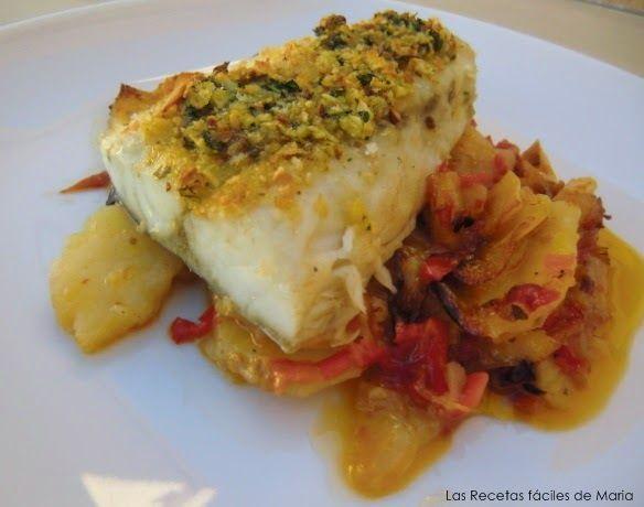 Corvina al Horno con Patatas y Verduritas | Las Recetas Fáciles de María | Recetas sencillas, para gente sencilla