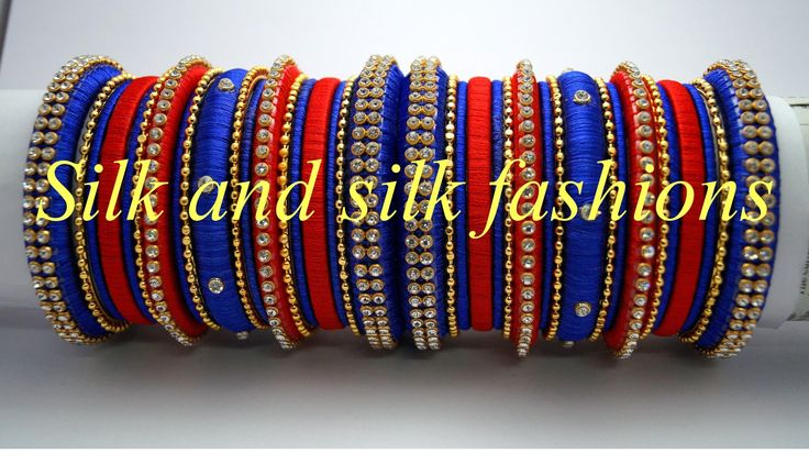 https://www.facebook.com/silkandsilkfashions silk thread bangles for party wear which are customizable...