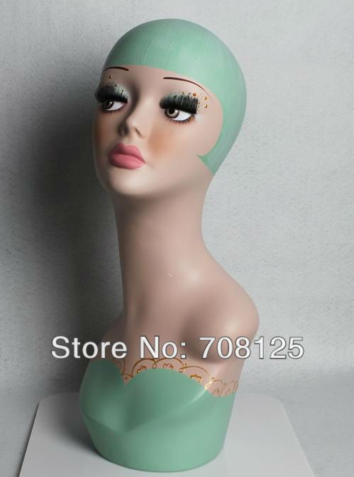 Vintage Female  Fiberglass Mannequin Head