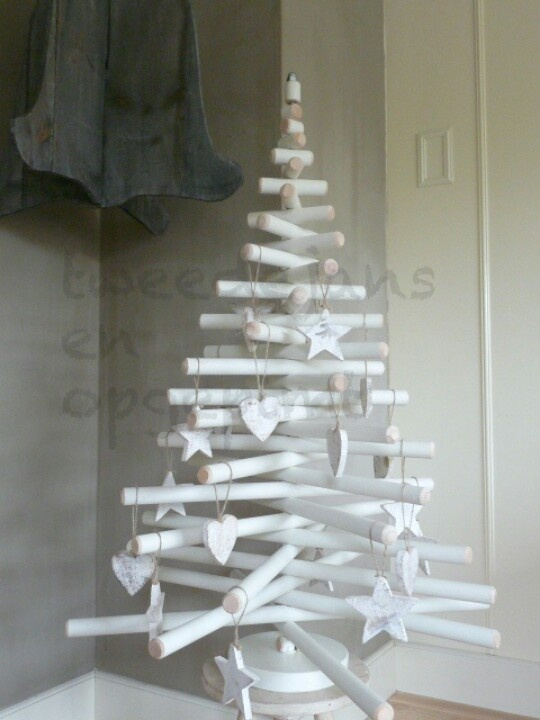 / white christmas tree /