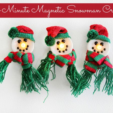 5-Minute Magnetic (Light-up!) Snowman Crafts