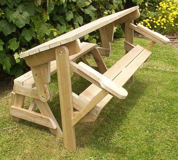 1 Piece Folding Picnic Table Woodworking Plans Woodplanstexture Projets De Menuiserie Faciles Plan De Travail Bois Table De Pique Nique