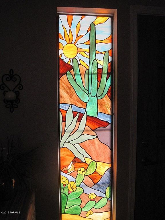 Southwestern stained glass panel