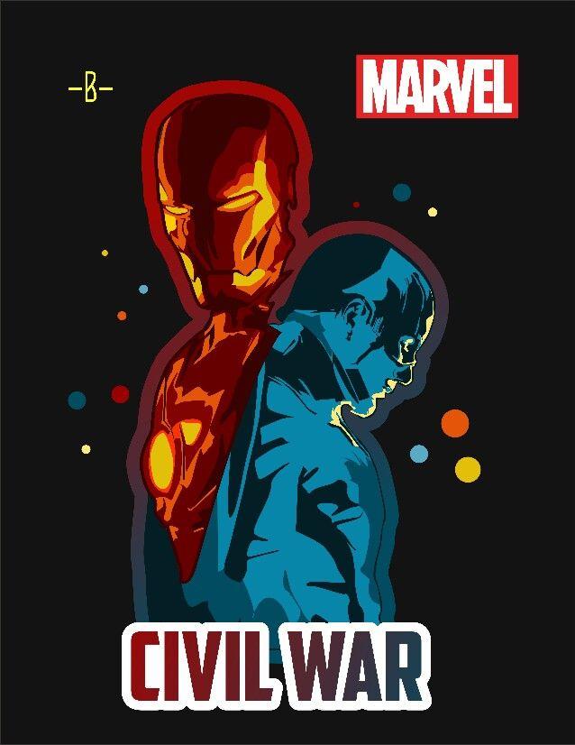 Marvel Civil War #vector #vector_id #civilwar #designtip #designinspiration #coreldrawx7 #poster