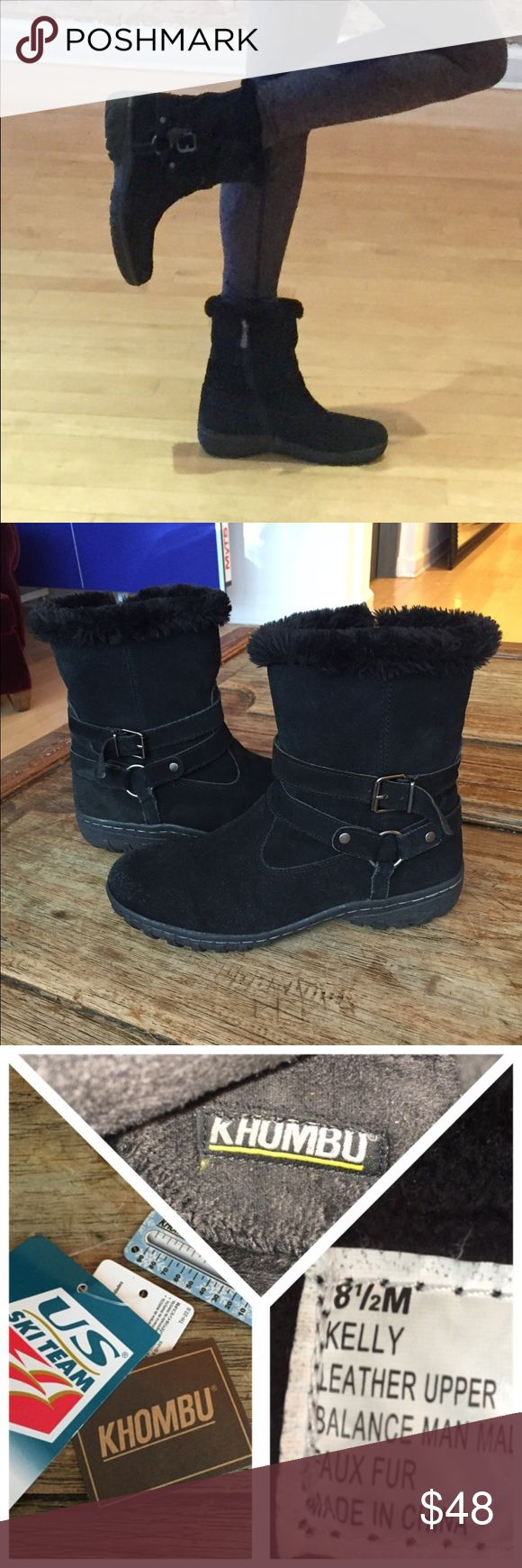🌂Worn  twice, great condition all weather boots🌂 ☔️⛄️KHOMBU all weather boots, super cute and comfortable. These have been worn twice and are in great condition. There is a tiny mark on one of the straps that is a little bit of glue that I couldn't get to come off. Please see photos⛄️☔️ Khombu Shoes Ankle Boots & Booties
