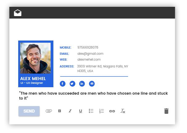 professional free email signatures html template on behance