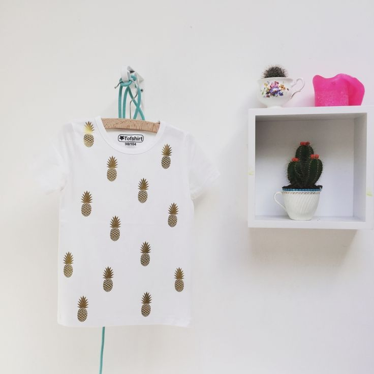 Baby shirt met kleine ananassen #tofshirt