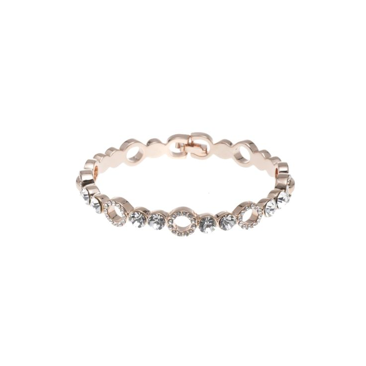 Gold Bracelet with Swarovski Crystals  by Jeminee Jewellery | #Gift Idea