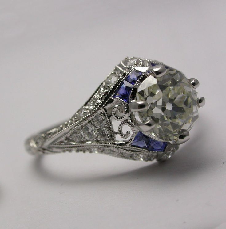 best 25 antique sapphire engagement rings ideas on