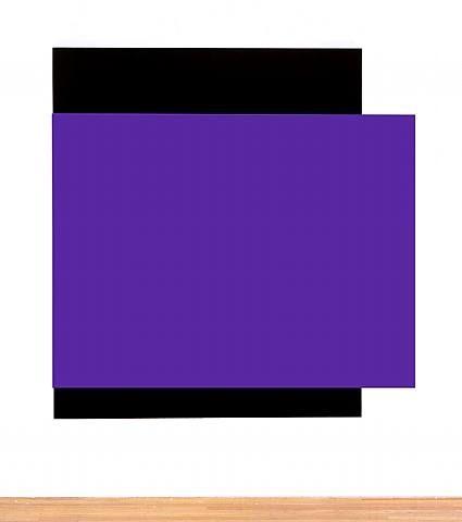 artnet Galleries: Purple Relief Over Black by Ellsworth Kelly from Matthew Marks Gallery