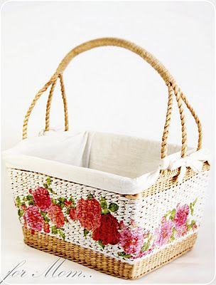 Decoupage Basket