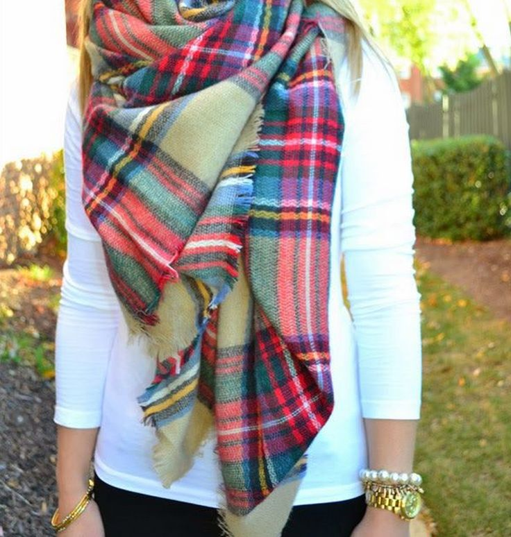 Zara Blanket Scarf - LOVE the colors in this plaid