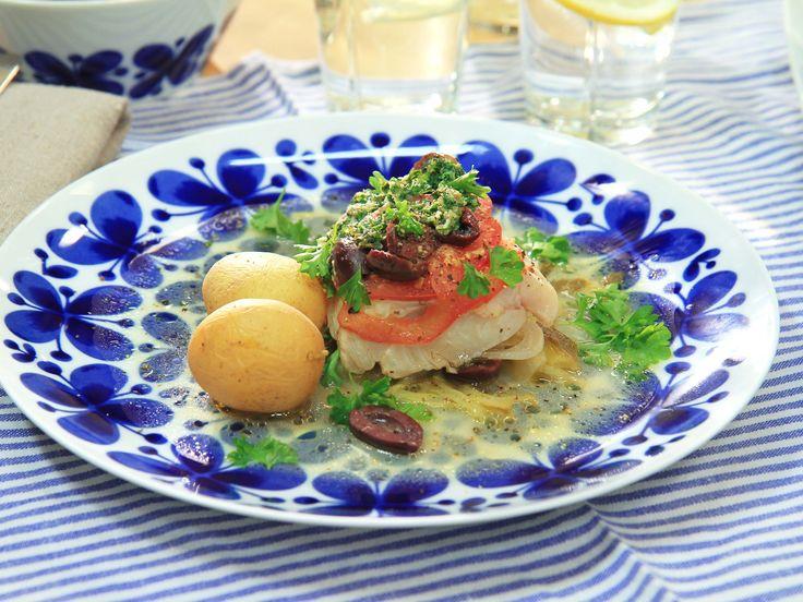 Torsk i foliepaket | Recept från Köket.se