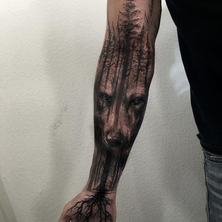 Image result for wolf tattoo sleeve                                                                                                                                                                                 More