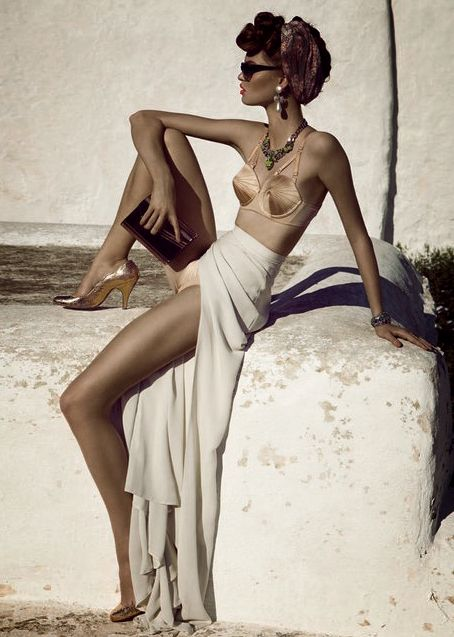 ♥Paris, Retro Chic, Style, Makeup Artists, Marc Jacobs, Luisa Bianchin, Beach, Maxis Skirts, Editorial Fashion