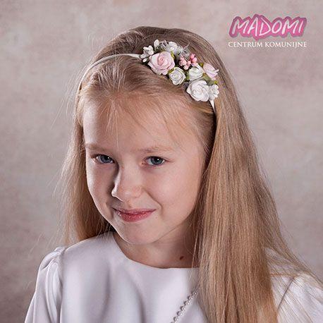 Urocza i bardzo dziewczęca #opaska dla dziewczynki. Biel z dodatkiem różu oraz pięknie mieniący się kryształek idealnie współgrają ze sobą. Opaski są świetnym rozwiązaniem na przebranie wianka po uroczystości komunii lub na biały tydzień gdy nie mamy czasu robić wymyślnej fryzury. Z powodzeniem można ją później wykorzystać na inne wyjątkowe uroczystości. PRODUKT POLSKI. #opaskidowlosow #fryzury #dowlosow
