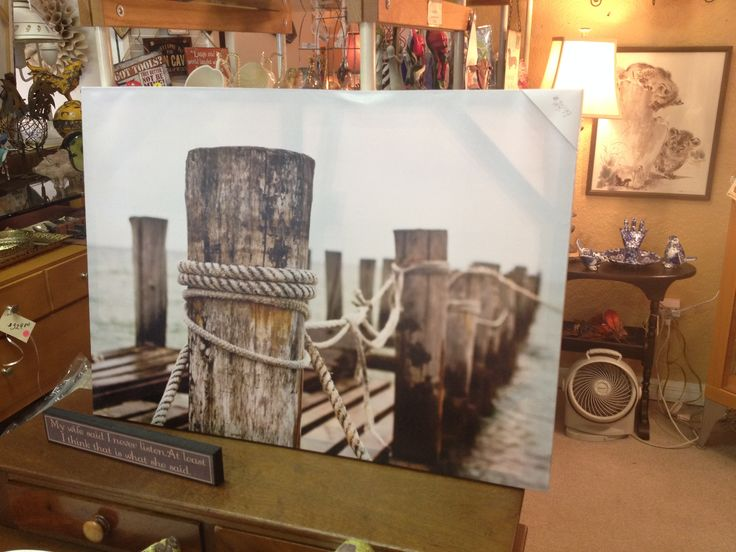 Gallery wrapped canvas of a dock. #carolescollections