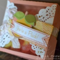 You're a Peach- Cricut Just Because Cards and Cameo treat boxTreat Box, Sarah Hamer, Cameo Treats, Crafty Gift, Treats Boxes, Gifts Wraps, Hamer Design, Silhouettt Cameo