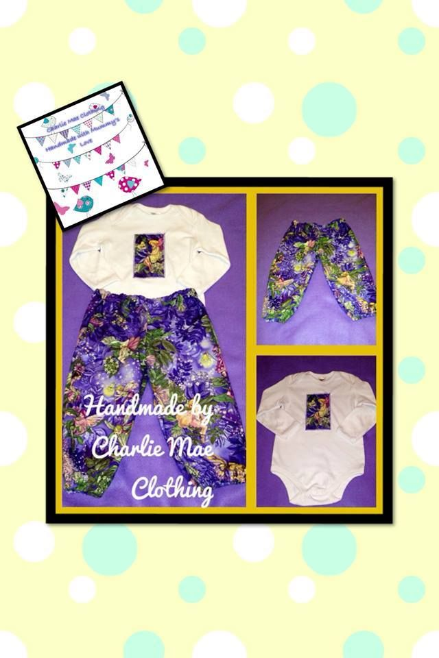 Slim Fit Toddler Pant and Bodysuit Set 100% Cotton Size 1 Enchanted Forest Market Night Tuesday 6th May, 2014