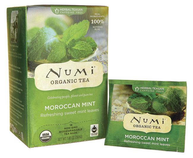 Numi Organic Tea Herbal Teasan - Moroccan Mint 18 Bag(s) - Swanson Health Products