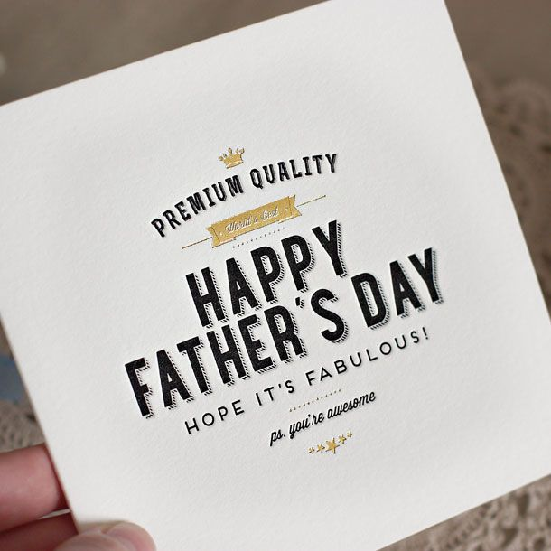 Letterpress Greeting Card | Letterpress Father's Day Card